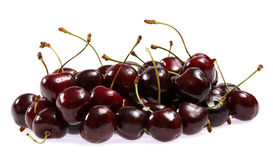 Fresh cherries on white background Stock Photos