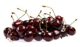 Fresh cherries on white background Stock Photos