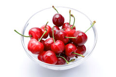 Fresh cherries on white background Royalty Free Stock Photography