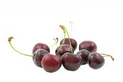 Fresh cherries on white. Background Stock Photography