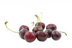 Fresh cherries on white Stock Photography