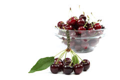 Fresh cherries on a white background. Stock Photography