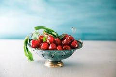 Fresh cherries on wood Stock Photo