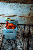 Fresh cherries on wood Royalty Free Stock Images