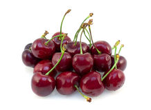 Fresh cherry. On white background Royalty Free Stock Images