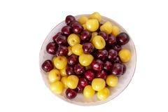 Fresh cherry background. Macro detail, isolated cherryes. Food background.  royalty free stock photos