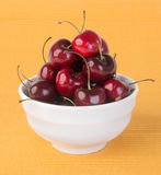 Fresh cherry berry on background Royalty Free Stock Images