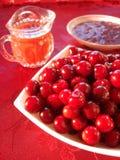 Fresh cherry in bowl Stock Photo