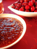 Fresh cherry in bowl Stock Images