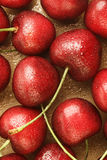 Fresh cherry fruit background Royalty Free Stock Photography