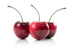 Fresh cherry fruit isolated Royalty Free Stock Photo