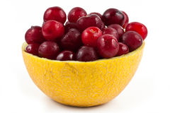 Fresh Cherry inside Melon  Royalty Free Stock Images