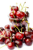 Fresh cherry isolated on white Royalty Free Stock Photos
