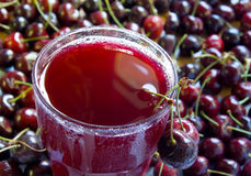 Fresh cherry juice Stock Image
