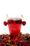 Fresh cherry juice Royalty Free Stock Photography