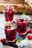 Fresh cherry juice Stock Photography