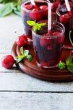 Fresh cherry juice Stock Photo