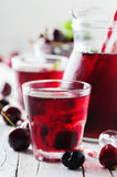 Fresh cherry juice with ice Royalty Free Stock Image