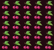 Fresh Cherry pattern Stock Photography