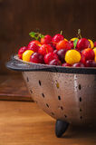 Fresh cherry plums Royalty Free Stock Photography
