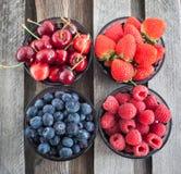 Fresh cherry, strawberry, blueberry and raspberry Royalty Free Stock Image