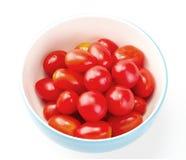 Fresh cherry Tomato in bowl on white background Royalty Free Stock Photography