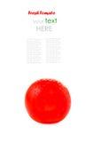 Fresh cherry tomato isolated on white Stock Image