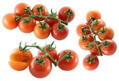Fresh Cherry tomato on white background Royalty Free Stock Images