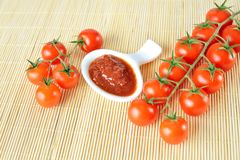 Fresh cherry tomatoes Royalty Free Stock Image