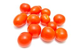 Fresh cherry tomatoes close-up Royalty Free Stock Photography