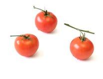 Fresh cherry tomatoes isolated on white background. Stock Photo