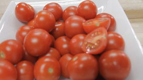 Fresh Cherry tomatoes juicy stock footage