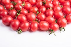 Fresh cherry tomatoes. Photographed indoors stock photography