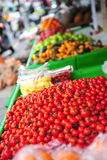 Fresh cherry tomatoes sold in a street market Stock Photo