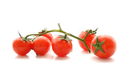 Fresh cherry tomatoes  on white Royalty Free Stock Images