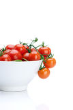 Fresh Cherry Tomatoes in White Bowl Stock Photography