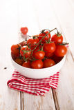 Fresh cherry tomatoes Stock Images