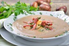Fresh Chestnut Soup stock images