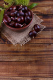 Fresh chestnuts in a bowl Stock Photography