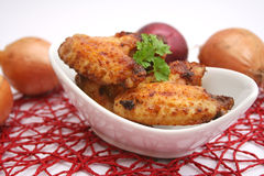 Fresh chicken. Some fresh wings of chicken royalty free stock photos