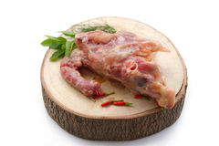 Fresh chicken bone for stock soup Royalty Free Stock Image