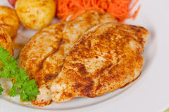 Fresh Chicken Cutlets On The Plate Stock Image
