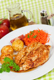 Fresh chicken cutlets on the plate Royalty Free Stock Image