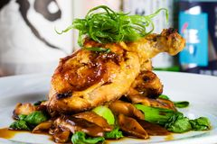 Fresh chicken dinner Stock Photography