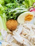 Fresh Chicken and egg salad Royalty Free Stock Images