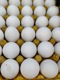 Fresh chicken eggs at Indian Street Market. Close-up of fresh chicken eggs for sale at Indian street market Royalty Free Stock Image