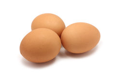 Fresh chicken eggs isolated Stock Photo
