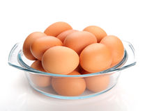 Fresh chicken eggs organic food Royalty Free Stock Photography