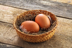 Fresh chicken eggs Royalty Free Stock Image