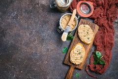 Fresh chicken liver pate Royalty Free Stock Photos